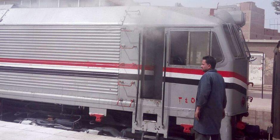 ماس كهربائى في عربة «الباور» يُعطل قطار الصعيد بمحافظة بنى سويف