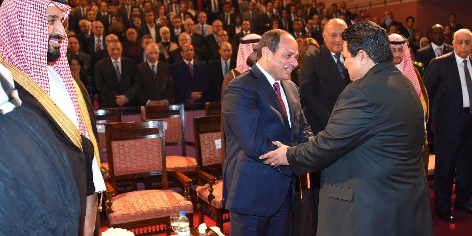 الرئيس السيسي وولي العهد السعودي في الأوبرا (صور)