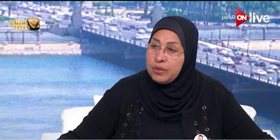 أرملة العميد عادل رجائى: مصر في حالة حرب.. ويجب المشاركة بقوة بالانتخابات
