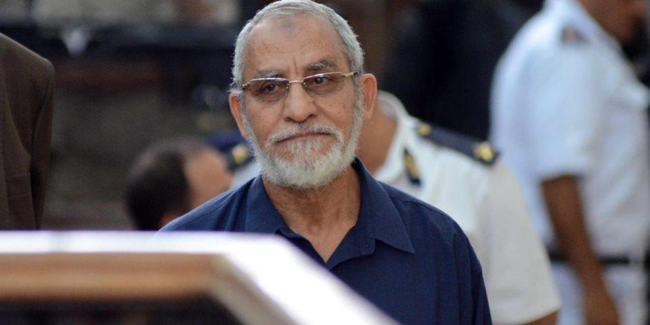 «الجنايات» تستكمل اليوم محاكمة بديع و738 أخرين في «فض اعتصام رابعة»