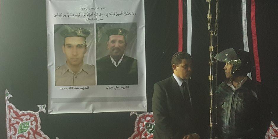 """""""صور شهداء"""" حادث انفجار الاسكندرية تتلقى العزاء في سرادق الوزارة"""