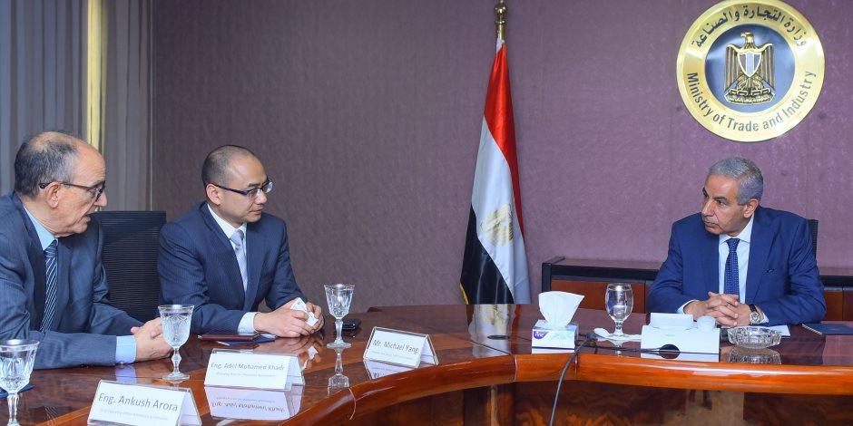 وزير التجارة يبحث مع شركة سياك الصينية ضخ استثمارات لإنتاج السيارات بمصر