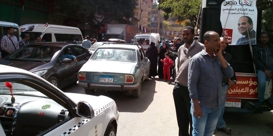 زحام مرورى بشارع السودان وكوبري 15 مايو بسبب مجمعات المدراس