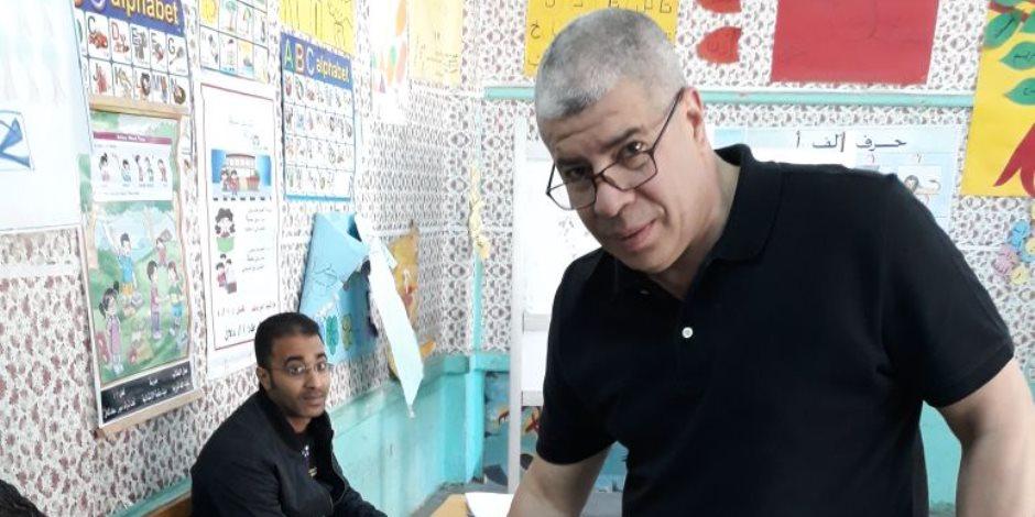 شوبير يدلى بصوته في انتخابات الرئاسة (صور)
