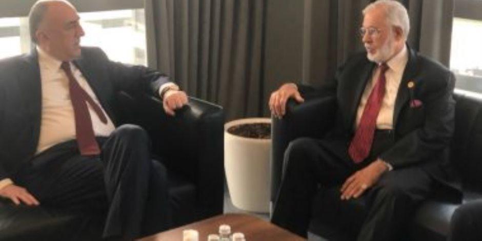 وزير خارجية ليبيا يبحث مع نظيره الأذربيجانى تعزيز التعاون الثنائى