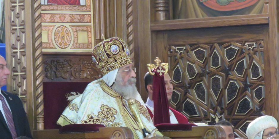 شيخ الأزهر ووزير الأوقاف في الكاتدرائية لتهنئة البابا بعيد القيامة