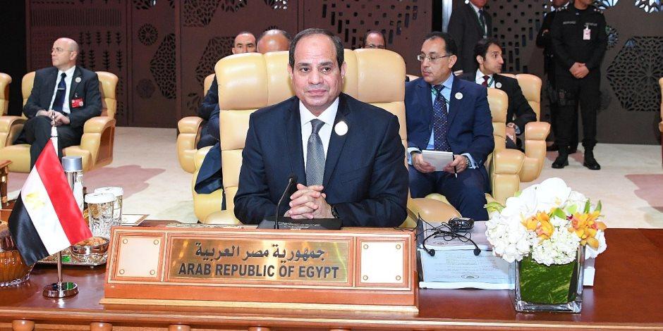 السيسى لرئيس لبنان: علينا تكثيف التشاور لمواجهة التحديات.. وعون: مصر دعامة الاستقرار بالمنطقة