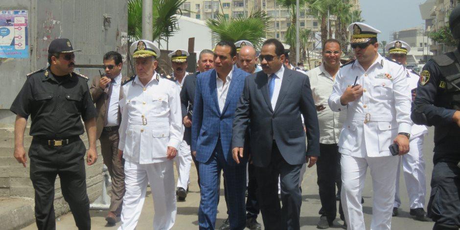 مدير أمن الإسكندرية يتقفد موقع مؤتمر moc لمتابعة الخطة الأمنية (صور)