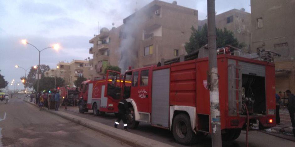 مصرع ربة منزل وإصابة نجلها في حريق اندلع بمنزل لسوء الأحوال الجوية بقنا