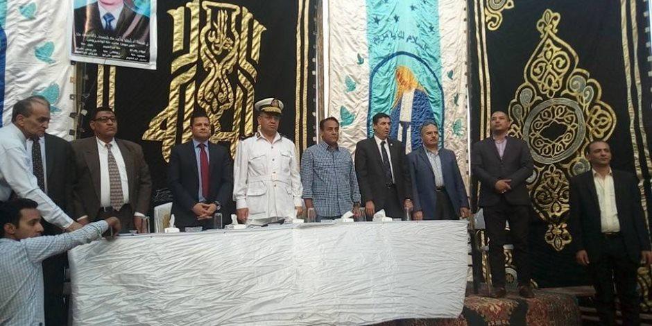 «المصريين الأحرار» يرعي إنهاء خصومة ثأرية بين عائلتين بالوراق (صور)