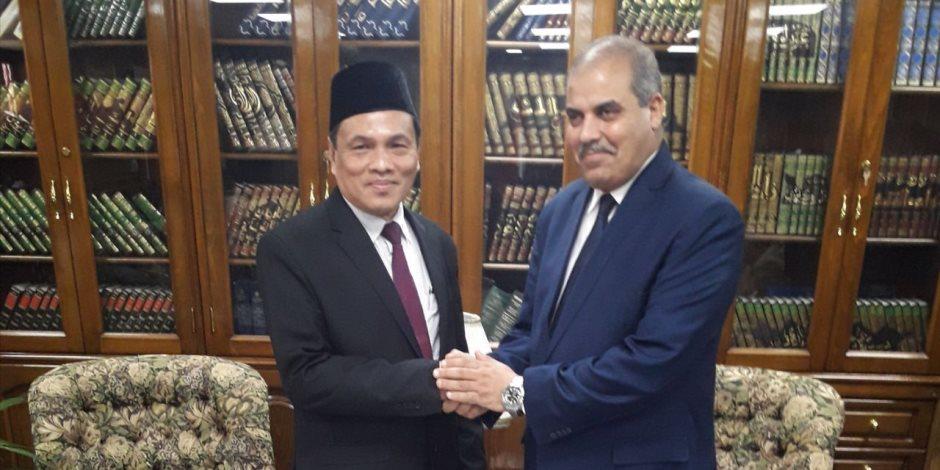 المحرصاوى يستقبل رئيس جامعة السلطان معظم شاه الإسلامية العالمية بماليزيا
