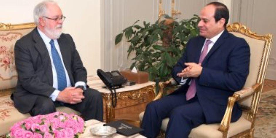 مفوض الطاقة والمناخ بالاتحاد الأوروبي يشيد بمشروعات مصر العملاقة خلال السنوات الماضية