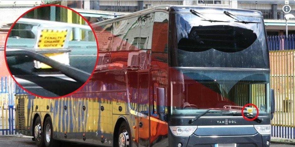 أتوبيس أرسنال يتعرض لغرامة بعد مباراة الجانرز واليونايتد بالبريمرليج (صور)