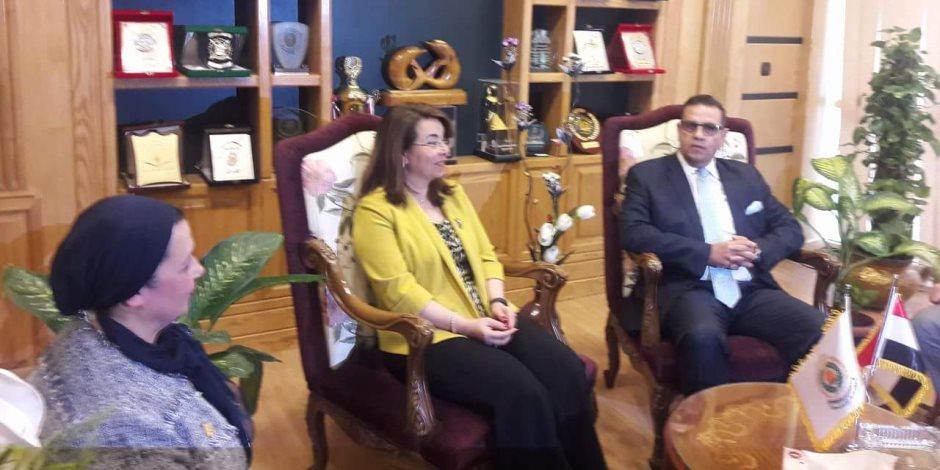 وزيرة التضامن الاجتماعى تفتتح أول وحدة لعلاج الإدمان بالدلتا بجامعة المنصورة
