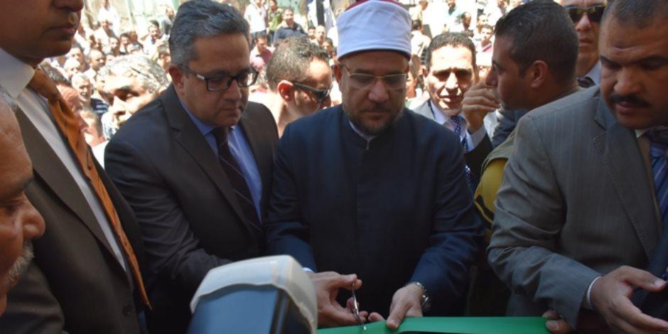 وزيرى الأوقاف والآثار يفتتحان مسجد زغلول الأثري بعد ترميمه برشيد فى البحيرة  (صور)