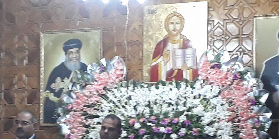 محافظ ومدير أمن الدقهلية يشاركان الأقباط فى الاحتفال بمولد القديسة دميانة (صور)