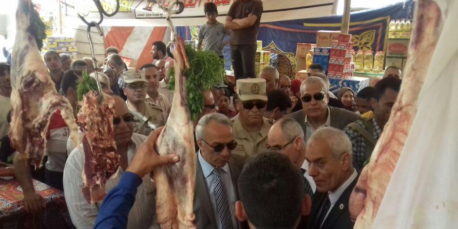 """""""وكيل التموين بشمال سيناء"""": طرح لحوم بمعرض """"أهلا رمضان"""" بـ80 جنيها للكيلو  (صور)"""