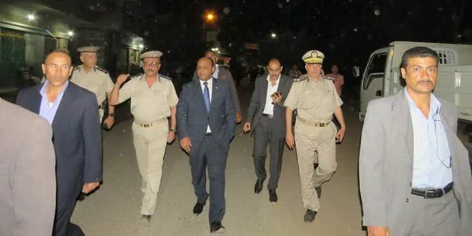 مدير أمن الغربية يتفقد الأوضاع الأمنية بقربة شرشابة بزفتي عقب مقتل شابين (صور)