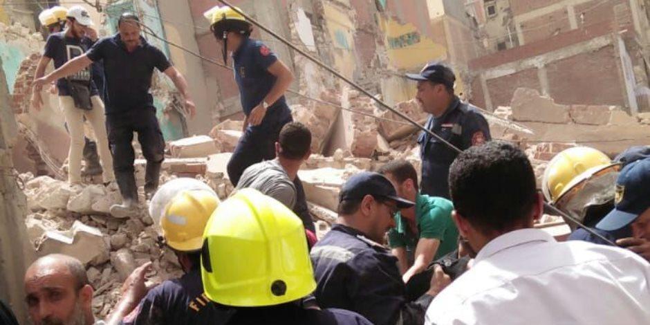 المسلسل مستمر.. تعرف على تفاصيل انهيار عقار بغرب الإسكندرية (صور)