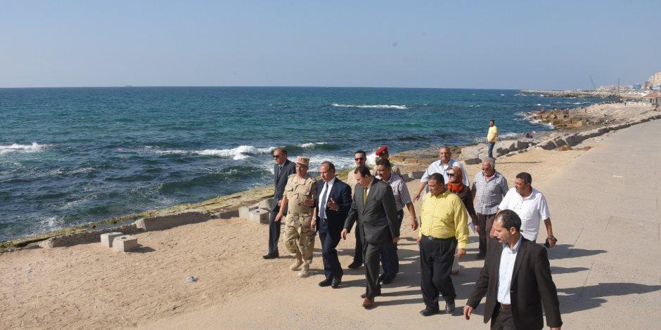 محافظ الإسكندرية و العزازي يتفقدان بشائر الخير 2 وتطوير الكورنيش ونفق سبورتنج (صور )