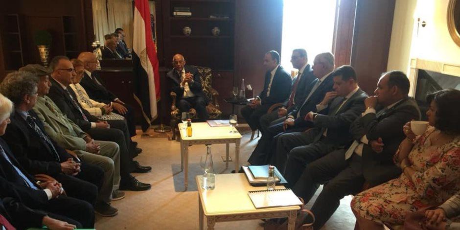 """البرلمان يحتضن أبناء مصر بالخارج.. تفاصيل لقاء """"عبدالعال"""" بالجالية في ألمانيا (صور)"""