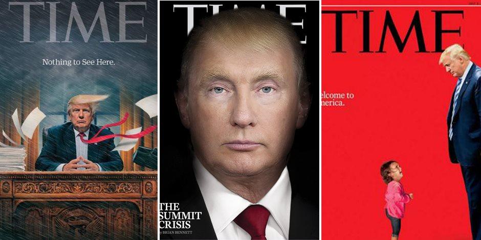 وصفته بالوحش ومنعدم الرؤية والتابع.. لماذا انقلبت الـ«تايم» على الملك ترامب؟ (صور)