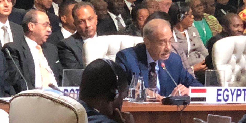 """شريف إسماعيل أمام قمة """"بريكس"""": مصر تستضيف معرض """"التجارة البينية فى أفريقيا"""""""