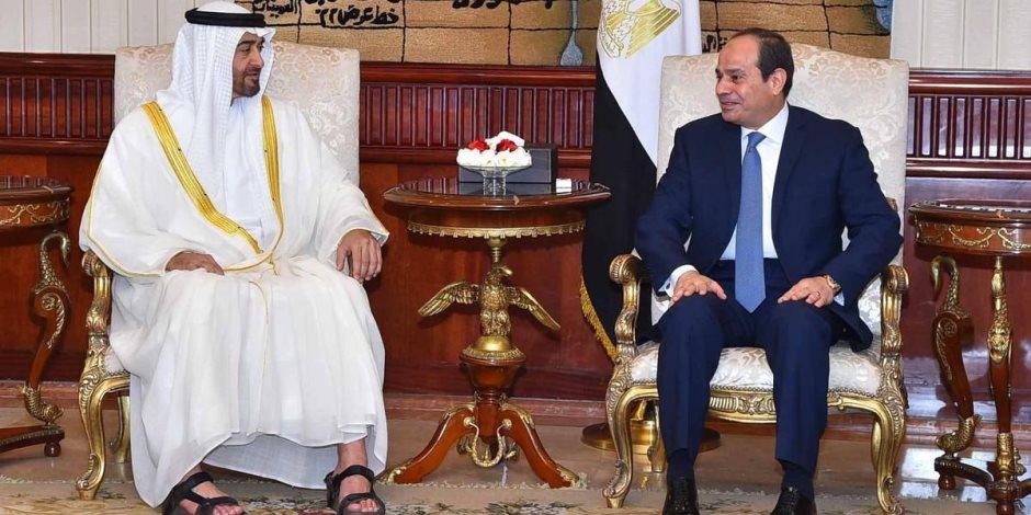ولي عهد أبوظبي مرحبا بالسيسي: علاقات الإمارات ومصر تاريخية واستراتيجية