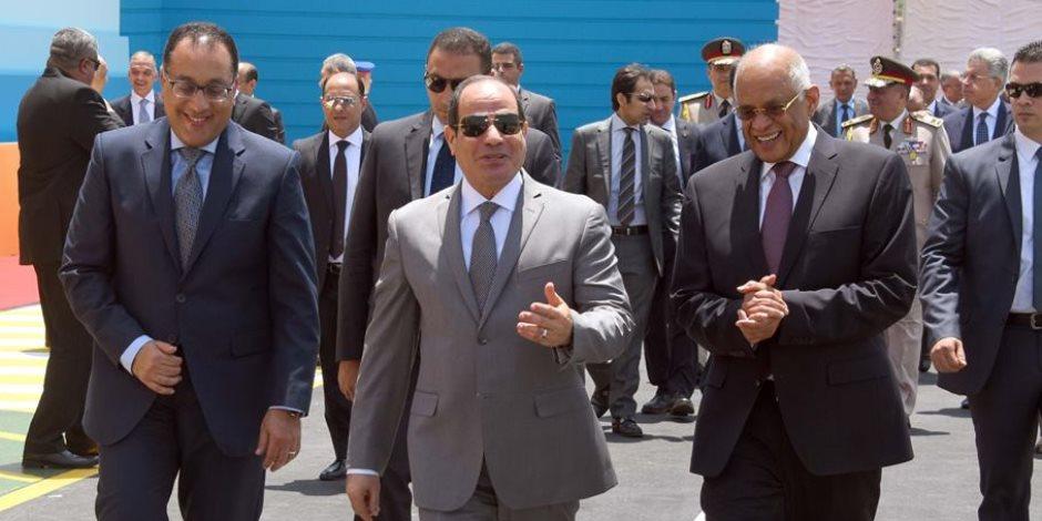 الرئيس السيسى يفتتح عددا من المشروعات الخدمية في مجالي المياه والإسكان الاجتماعي