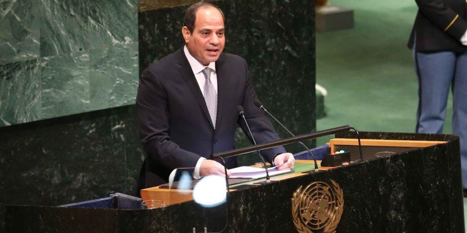 28 رسالة للرئيس السيسي في الأمم المتحدة.. مكافحة الإرهاب وحل الأزمة السورية أبرزها