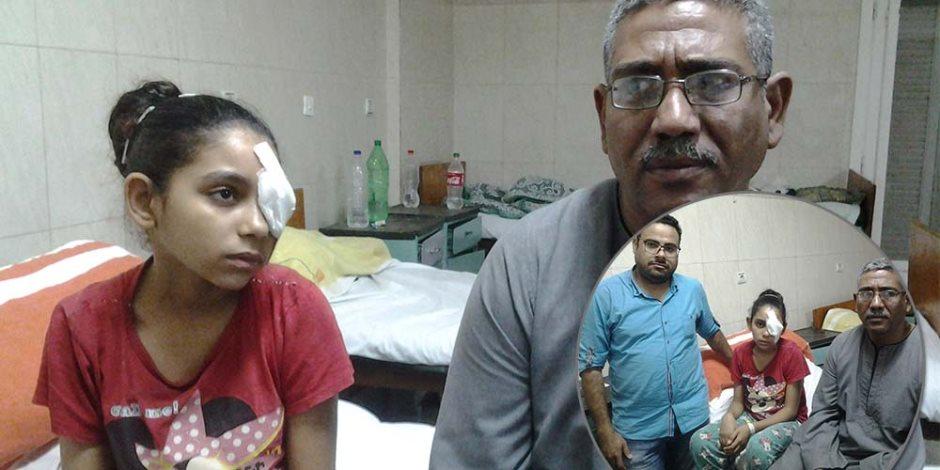 عادت من المدرسة بإصابة في عينها.. قصة التلميذة نورا والأستاذ ماجد بأسيوط (صور)