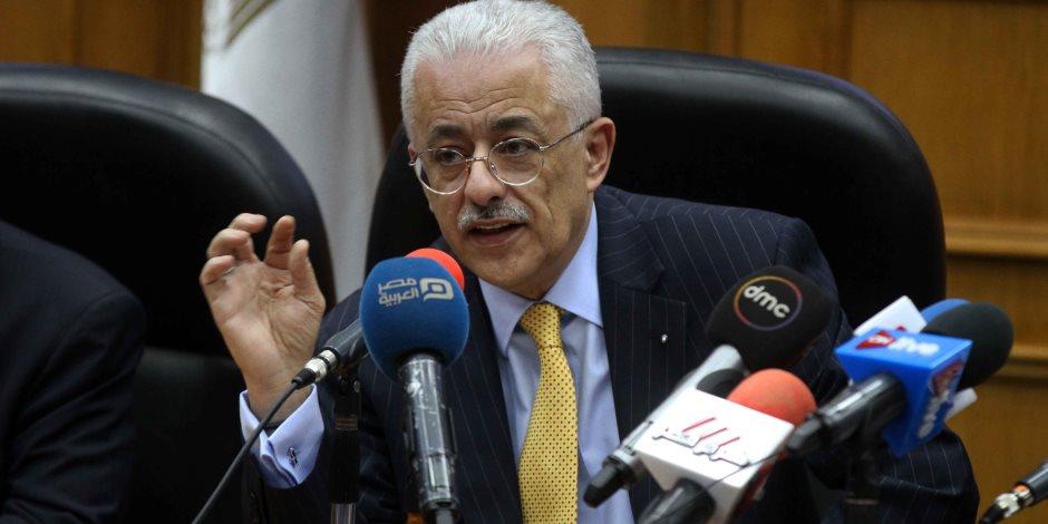 وزير التربية والتعليم ينعى شهداء حادث المنيا.. ويؤكد: الشعب المصري يد واحدة ضد الإرهاب