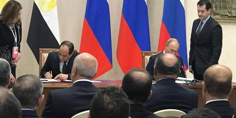 السيسي وبوتين يوقعان اتفاقية بشأن الشراكة الشاملة والتعاون الاستراتيجي