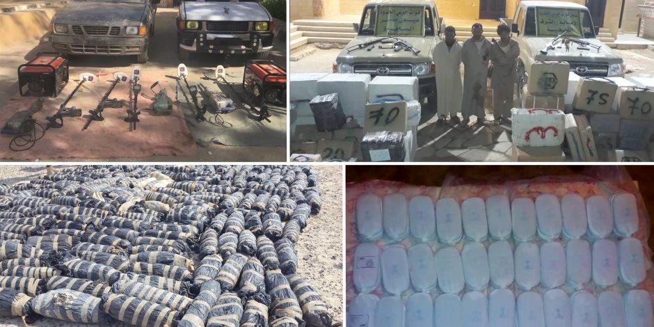 الجيش يعلن قتل 10 تكفيريين وتدمير 25 سيارة و147 وكرا ومخزنا فى سيناء (فيديو وصور)