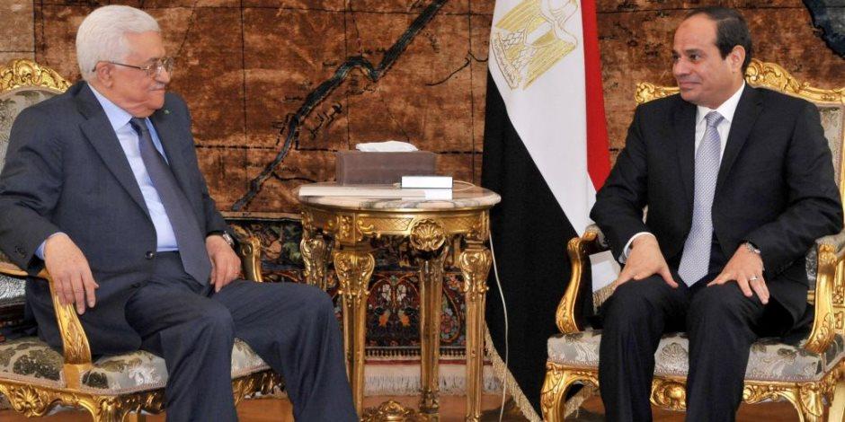 الرئيس السيسي يستقبل محمود عباس أبو مازن بشرم الشيخ