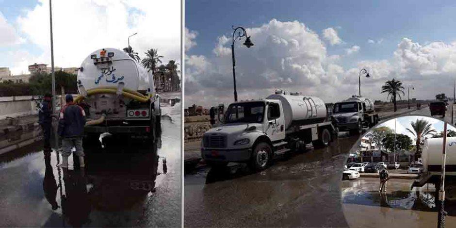"""أجواء متقلبة وأمطار متقطعة وأمواج مضطربة.. """"شتاء صعب"""" يعلن عن قدومه في الإسكندرية"""