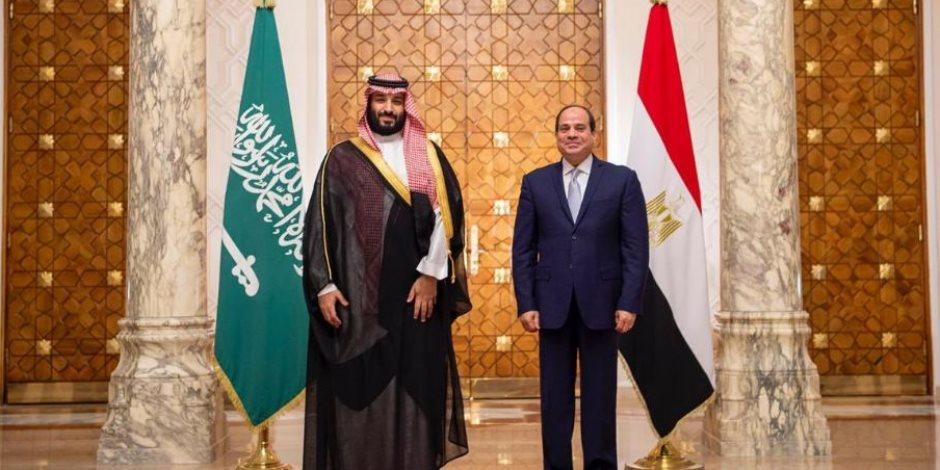السيسى لولي العهد السعودي: استقرار المملكة جزء لا يتجزأ من الأمن المصرى