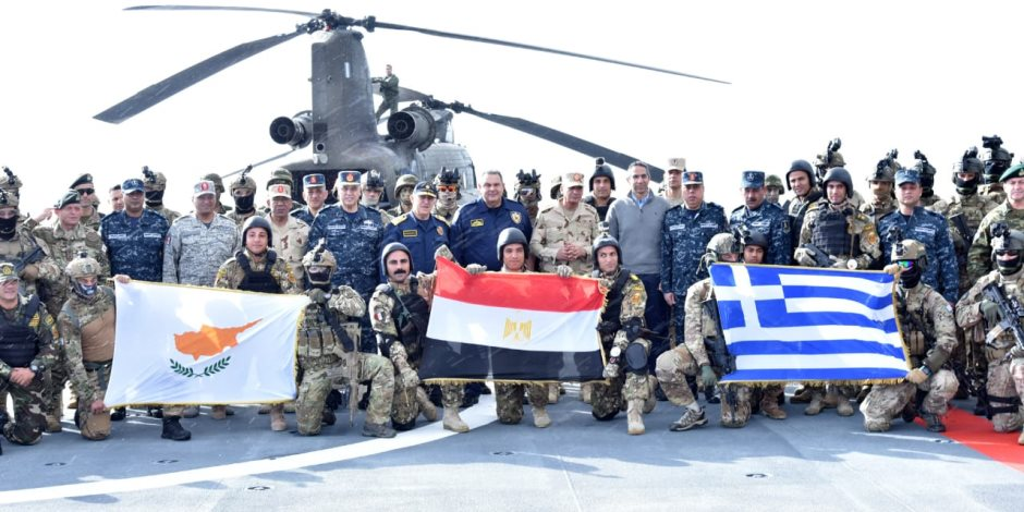 """ننشر صور تدريب """"ميدوزا 7 """" المشترك بين الجيش المصرى واليونانى والقبرصى"""