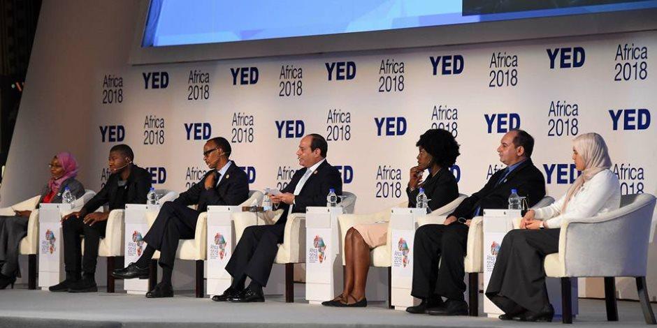 الرئيس السيسي: أفريقيا مستقبل الاقتصاد العالمى وهناك تشريعات جديدة لدعم مشروعات الشباب