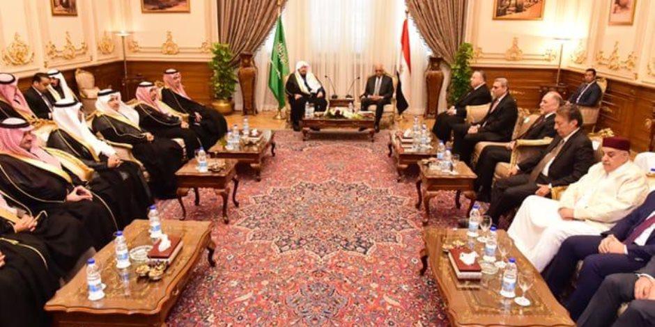 «عبدالعال» لرئيس «الشورى السعودي»: نقف معكم في قضية مقتل «خاشقجي»
