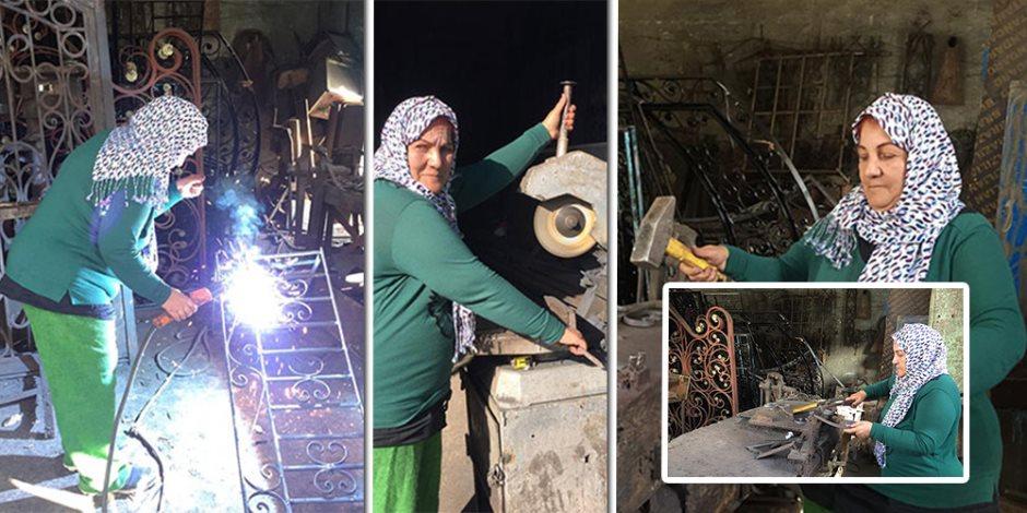 قصة نجاح الأيدي الناعمة.. نادية أول مصرية تعمل بالحدادة