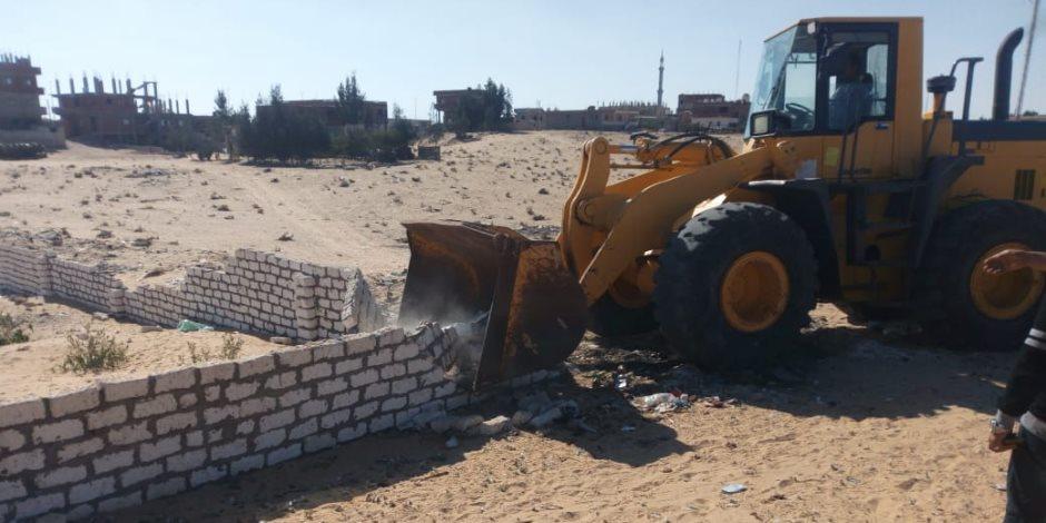 ارتفاع حصيلة إزالة التعديات على أراضي الدولة إلى 30 ألف فدان ومليون و400 ألف متر مربع