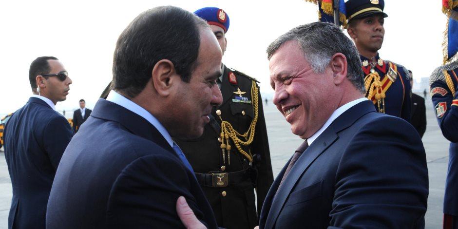"""العاهل الأردني يصل القاهرة ويعقد مباحثات مع الرئيس السيسي في """"الاتحادية"""""""