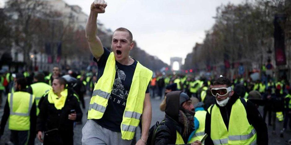 الداخلية الفرنسية تحذر «السترات الصفراء».. وخسائر المسيرات تقترب من ربع مليار يورو
