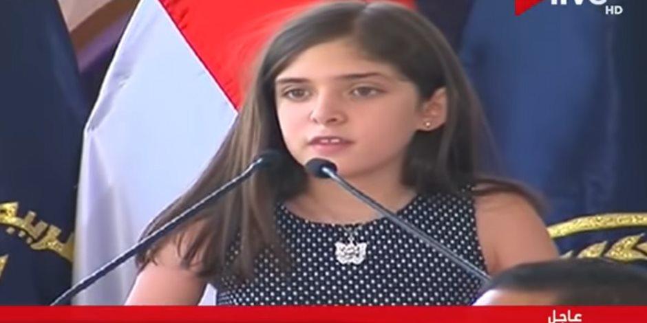 شاهد رسالة ابنة شهيد الأمن العام للضباط فى عيد الشرطة