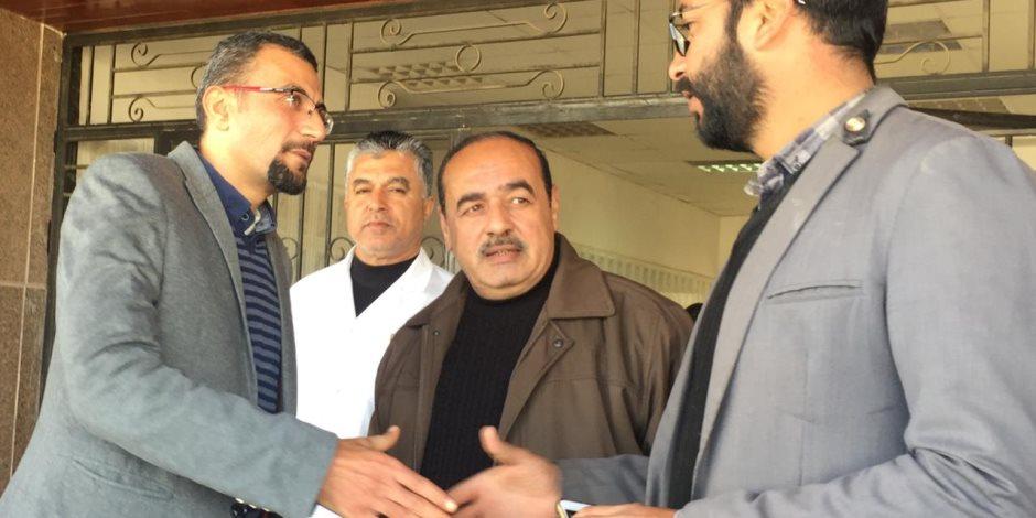 فور تعيينه وكيلا للصحة بشمال سيناء.. «شوكة» يزور مستشفى الشيخ زويد (صور)