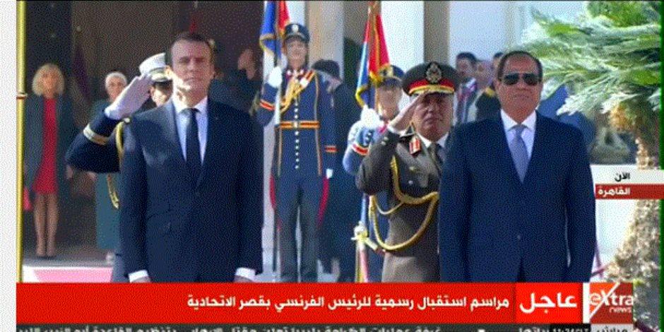 قصر الاتحادية يستضيف الرئيس الفرنسي إيمانويل ماكرون