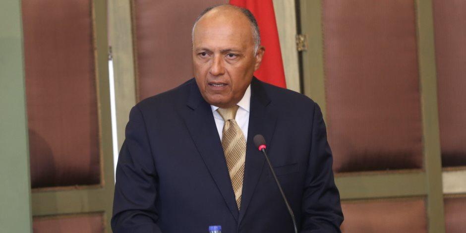 اليوم.. مؤتمر صحفى مشترك لوزيرى خارجية مصر وفرنسا بقصر التحرير