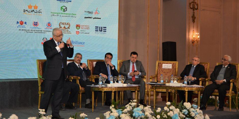 طارق شوقي: اتخذنا خطوات جريئة لتطوير العملية التعليمية والعمل على تخريج طالب مبدع