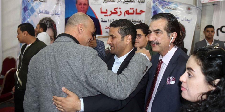 الكاتب الصحفي يوسف أيوب يسجل بعمومية الصحفيين (صور)